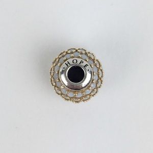 NEW Pandora ESSENCE 14k Gold and Silver HOPE Charm